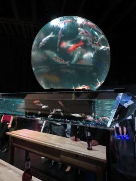 (アースアクアリウム・ジャポニズム)地球儀をイメージした巨大水槽の中は錦鯉
