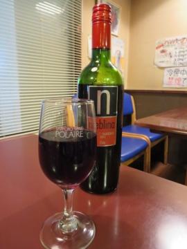ワインはボトルのみ、赤・常温でした