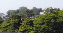ホテルの部屋から金澤城