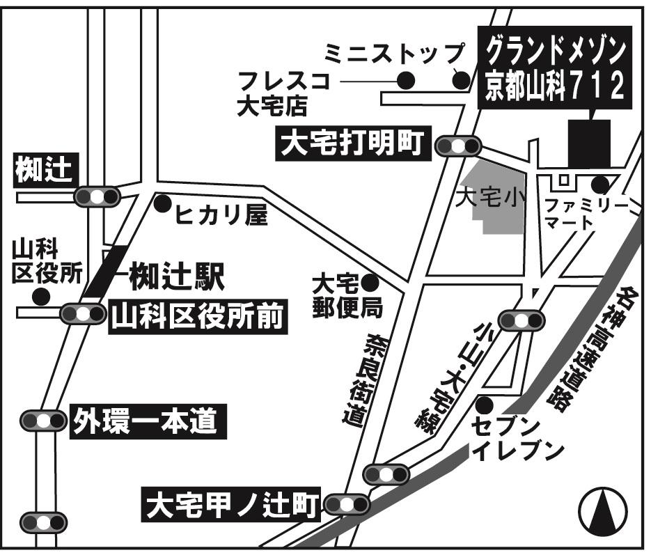 グランメゾン京都山科地図