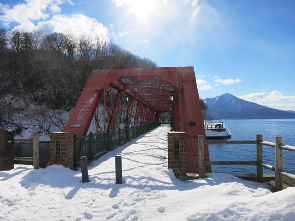 千歳・支笏湖 氷濤まつり 山線鉄橋