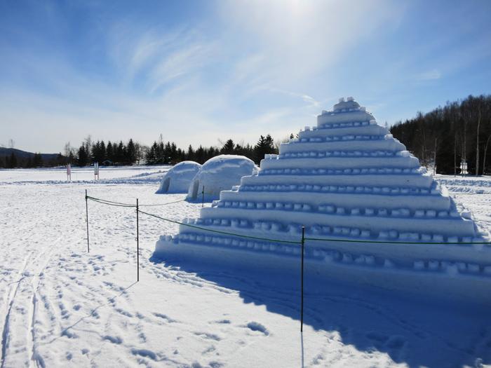 滝野スノーワールド ピラミッド かまくら