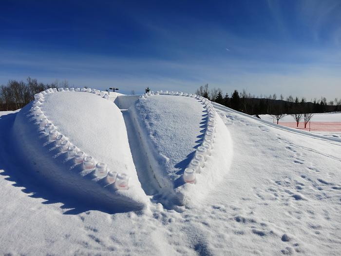 滝野スノーワールド ハートのすべり台