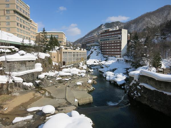 定山渓 橋からの風景