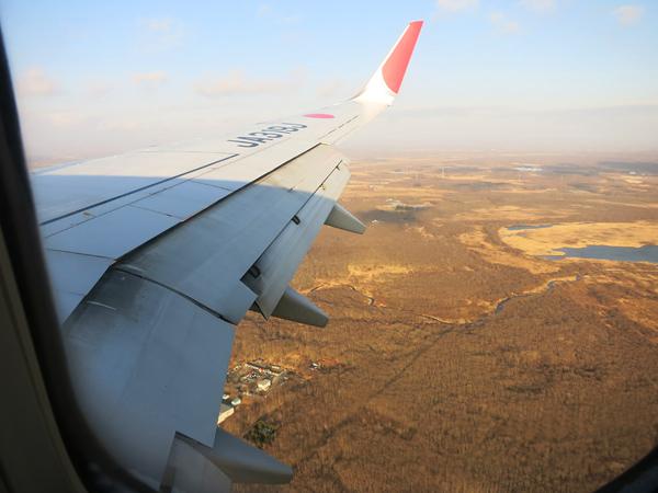 機上 風景 北海道