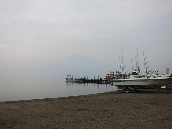 支笏湖 湖面 PM2.5