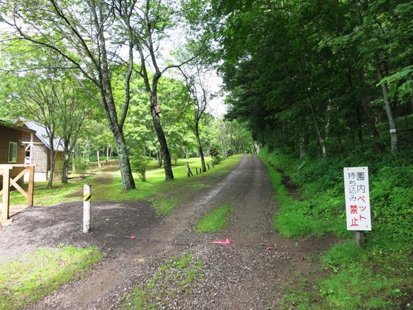 ポロトの森キャンプ場 入口