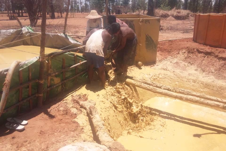 泥水の補充
