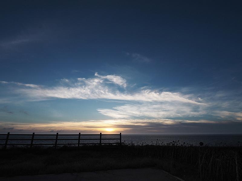 夕日の広場