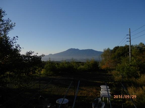 客室よりバラギ高原の朝