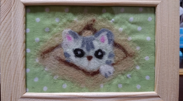 羊毛フェルト猫