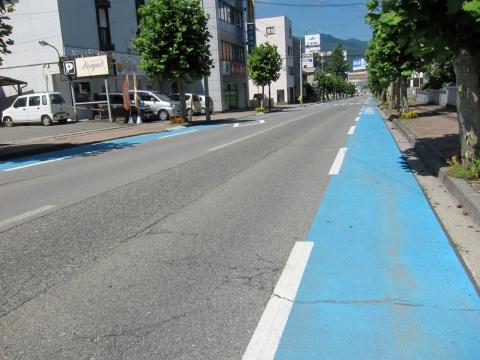 06茅野市内自転車レーン