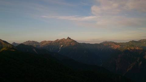 36燕岳の朝