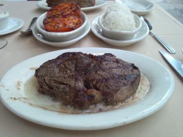 メガサイズのステーキ