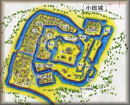 小田城址縄張り図