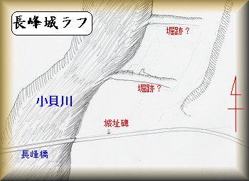 長峰城址縄張り図