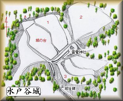 水戸城址縄張り図