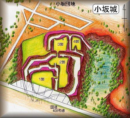 小坂城址縄張り図