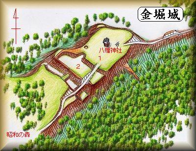 金堀城址縄張り図