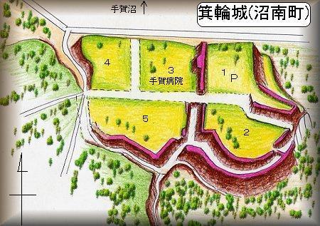箕輪城縄張り図