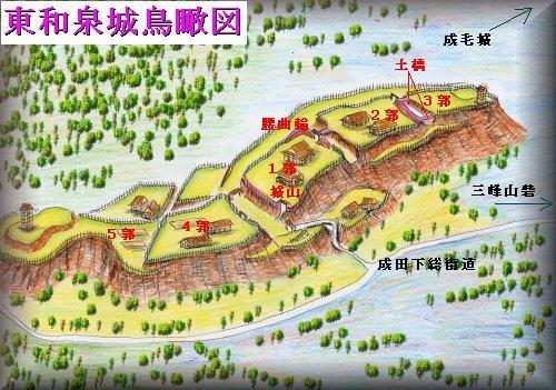 東和泉城址縄張り図