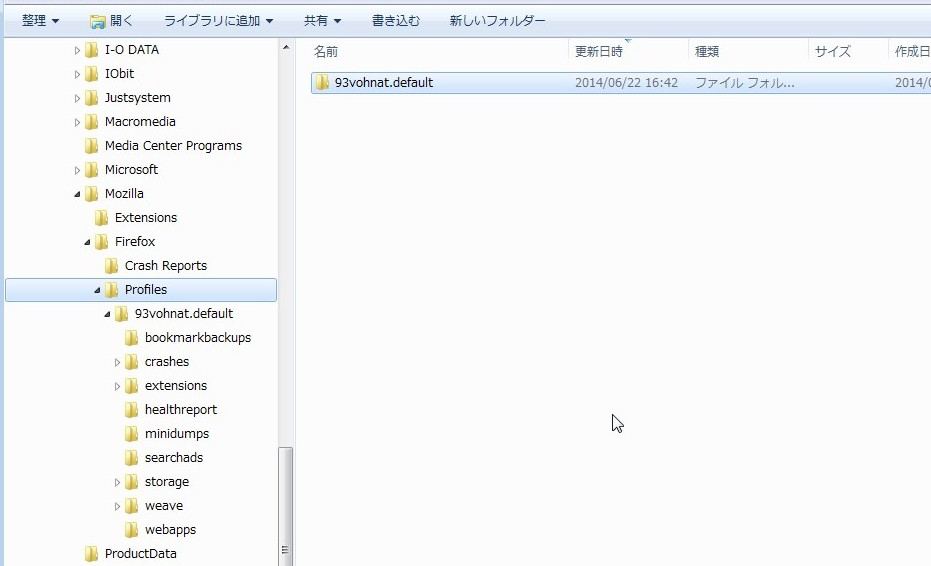 2014062203 orgFolder FFprofile