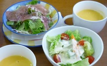 140920サラダとスープ