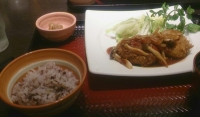 pinkとひばり10-16-5夕食