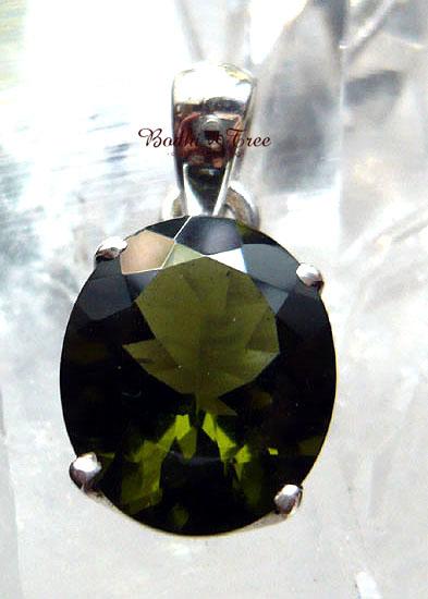 Bodhitree-菩提樹 モルダバイト ペンダント-a 天然石 パワーストーン シルバー9257