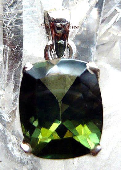 Bodhitree-菩提樹 モルダバイト ペンダント-b 天然石 パワーストーン シルバー925 41