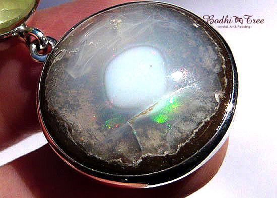 プレナイト&カンテラオパール ペンダント 天然石 パワーストーン silver 925 55