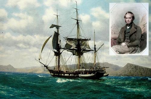 ガラパゴス諸島のHMS ビーグル号
