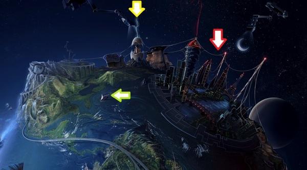 ファンタジー惑星:モロトフスフィア(火炎瓶星)上半球
