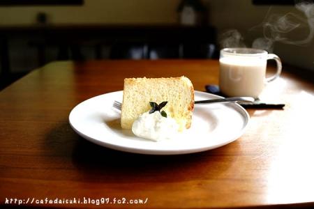 喫茶 gachirin -月輪-◇国産レモンのシフォン&ラベンダーミルクティ