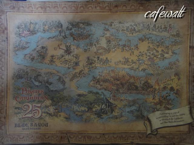 Blue Bayou Restaulant Pirates of the Caribbean Map 1