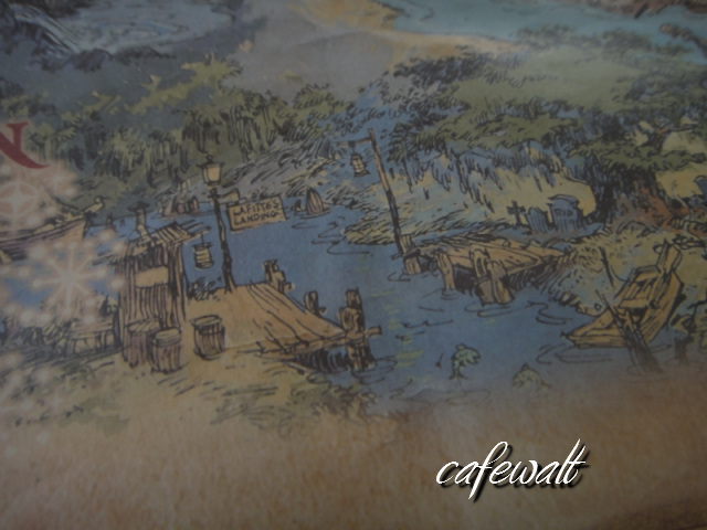 Blue Bayou Restaulant Pirates of the Caribbean Map 4