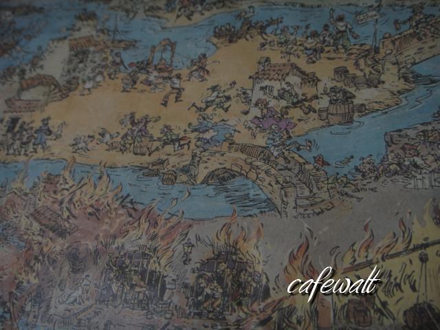 Blue Bayou Restaulant Pirates of the Caribbean Map 12