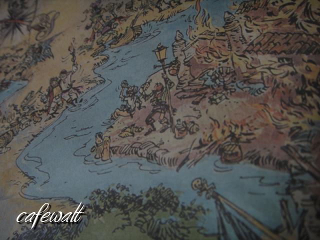 Blue Bayou Restaulant Pirates of the Caribbean Map 14