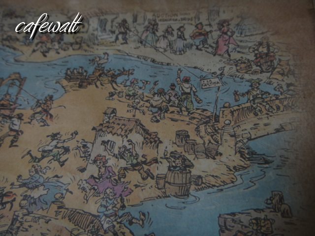 Blue Bayou Restaulant Pirates of the Caribbean Map 11