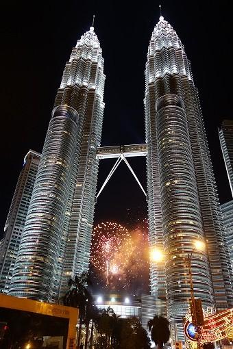 2014新年 ペトロナスツインタワーの前