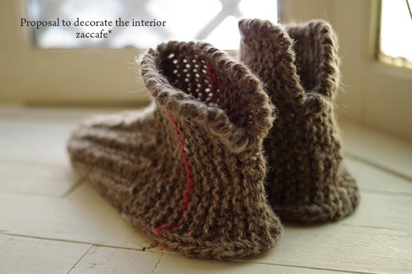 ナチュラルっぽい手編み靴下