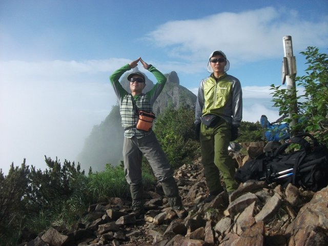 061八ヶ岳(権現岳)山頂にて20140721
