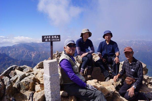 35 大天井岳山頂で