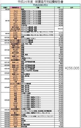 保護猫医療費2606