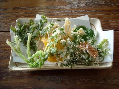 郷土食堂・山野菜天ぷら