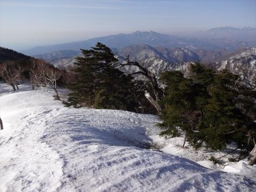 奥に高原山と日光連山
