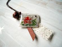 chuwa (ちゅわ)のブログ-花の切手ネックレス
