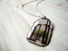 chuwa (ちゅわ)のブログ-窓と鳥のネックレス