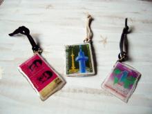 chuwa (ちゅわ)のブログ-旅の切手バッグストラップ3種
