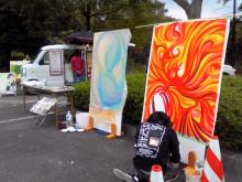 chuwaの庭-復興祭ライブペイント風景